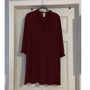 H&M burgundy fall dress